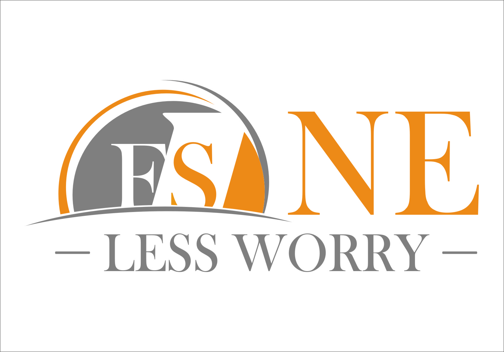 Logo Design by Ngepet_art - Entry No. 100 in the Logo Design Contest Creative Logo Design for FS - One Less Worry.