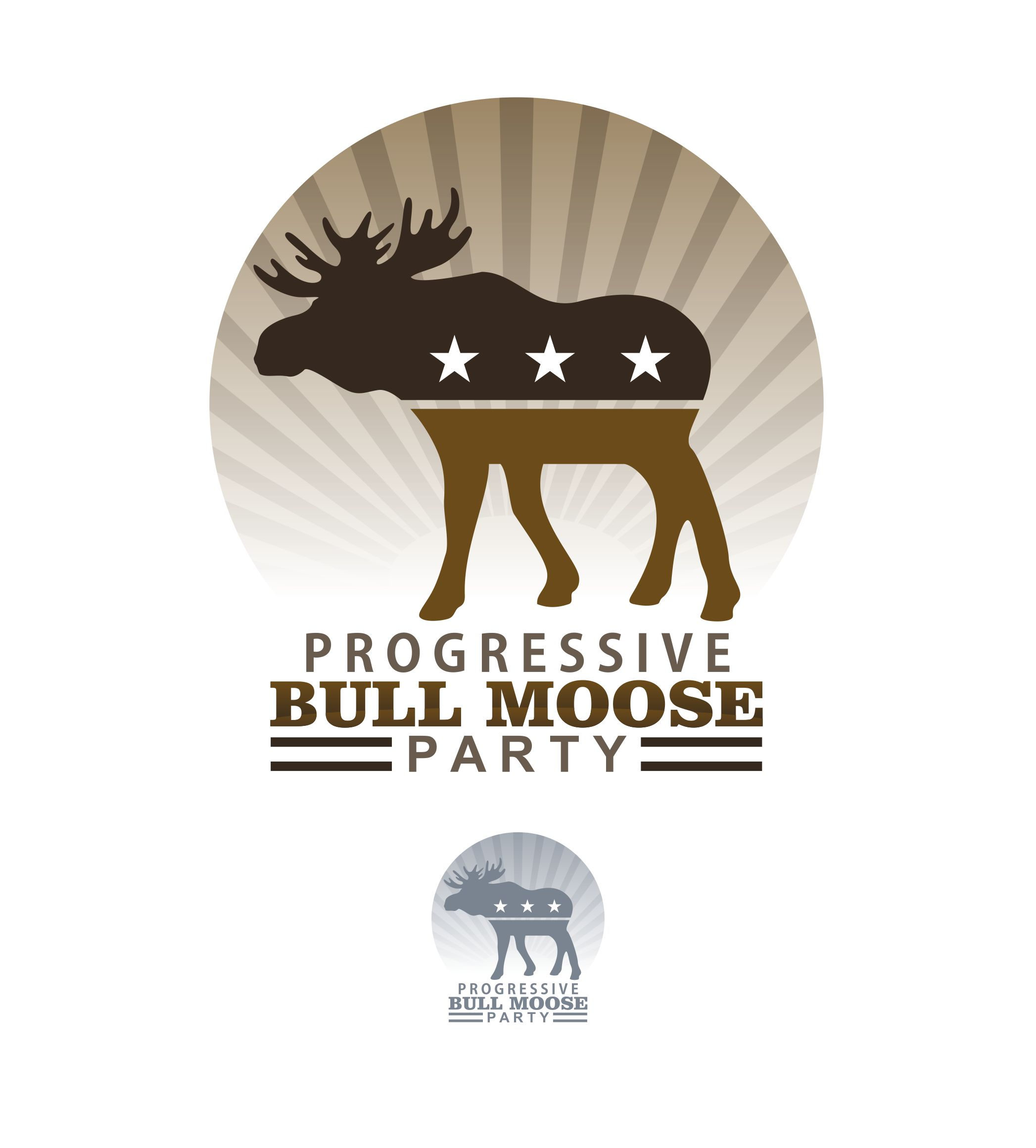 Logo Design by joca - Entry No. 48 in the Logo Design Contest Progressive Bull Moose Party Logo Design.