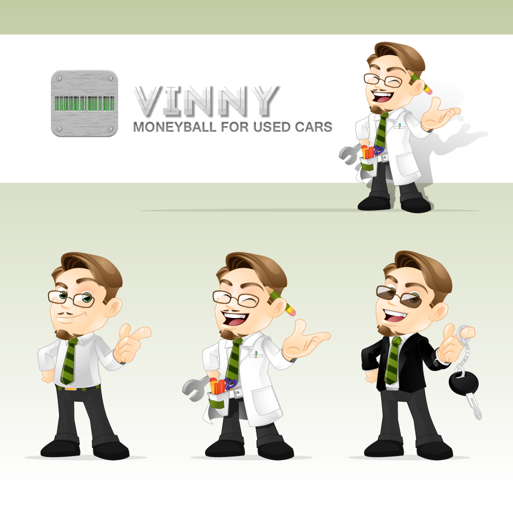 Logo Design by zesthar - Entry No. 86 in the Logo Design Contest Unique CHARACTER logo Design Wanted for Vinny.