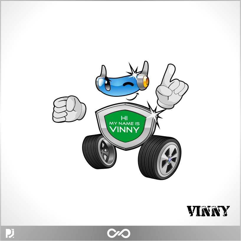 Logo Design by PJD - Entry No. 87 in the Logo Design Contest Unique CHARACTER logo Design Wanted for Vinny.