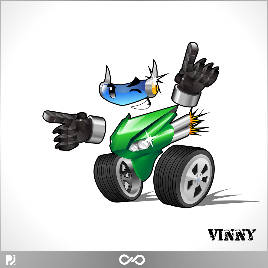 Logo Design by PJD - Entry No. 88 in the Logo Design Contest Unique CHARACTER logo Design Wanted for Vinny.