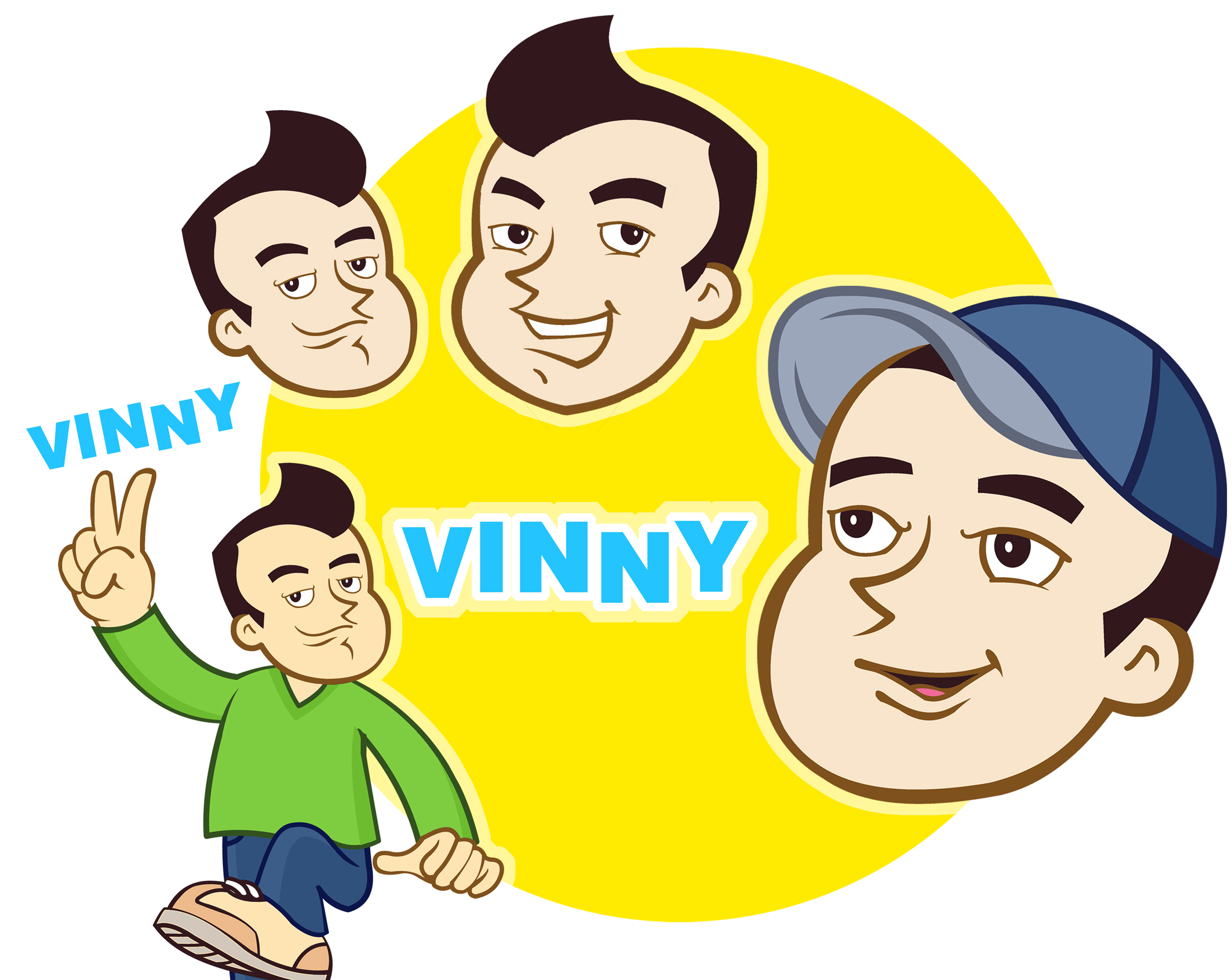 Logo Design by Private User - Entry No. 104 in the Logo Design Contest Unique CHARACTER logo Design Wanted for Vinny.