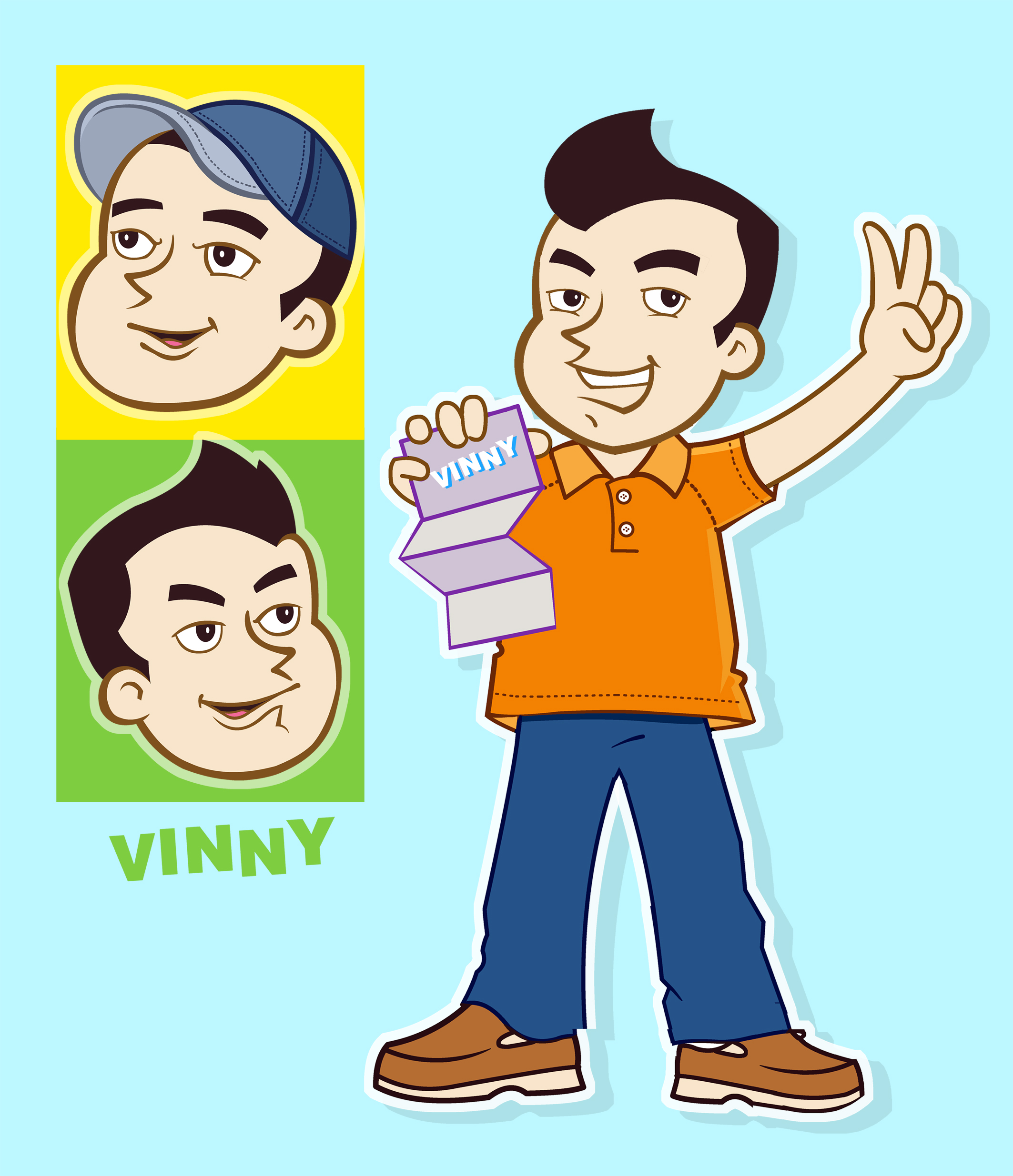 Logo Design by Private User - Entry No. 105 in the Logo Design Contest Unique CHARACTER logo Design Wanted for Vinny.