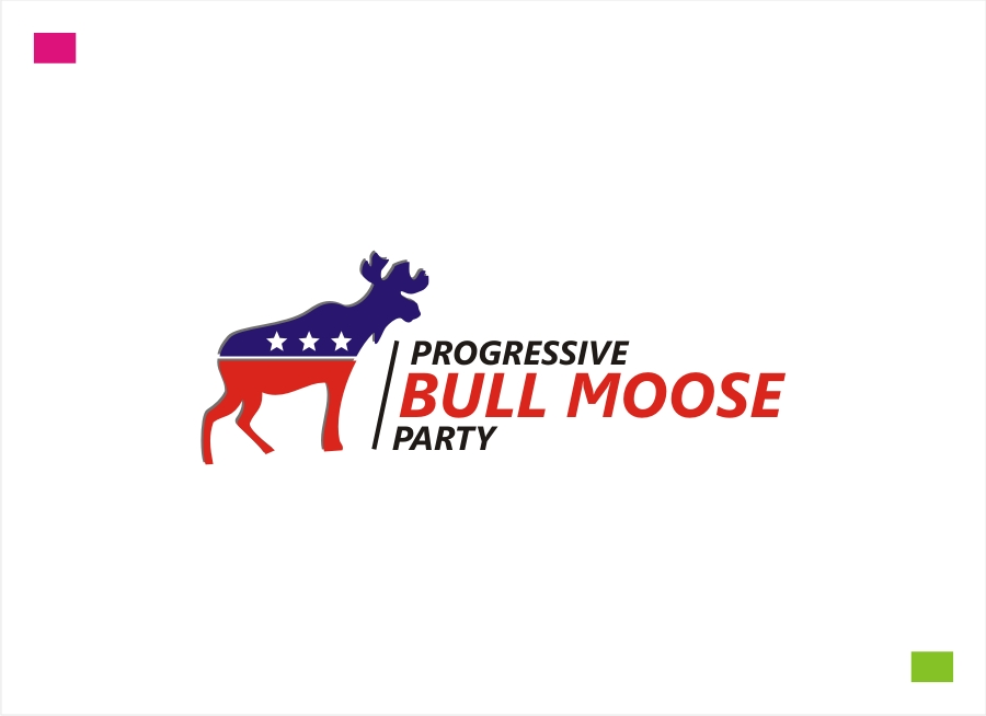 Logo Design by Private User - Entry No. 54 in the Logo Design Contest Progressive Bull Moose Party Logo Design.
