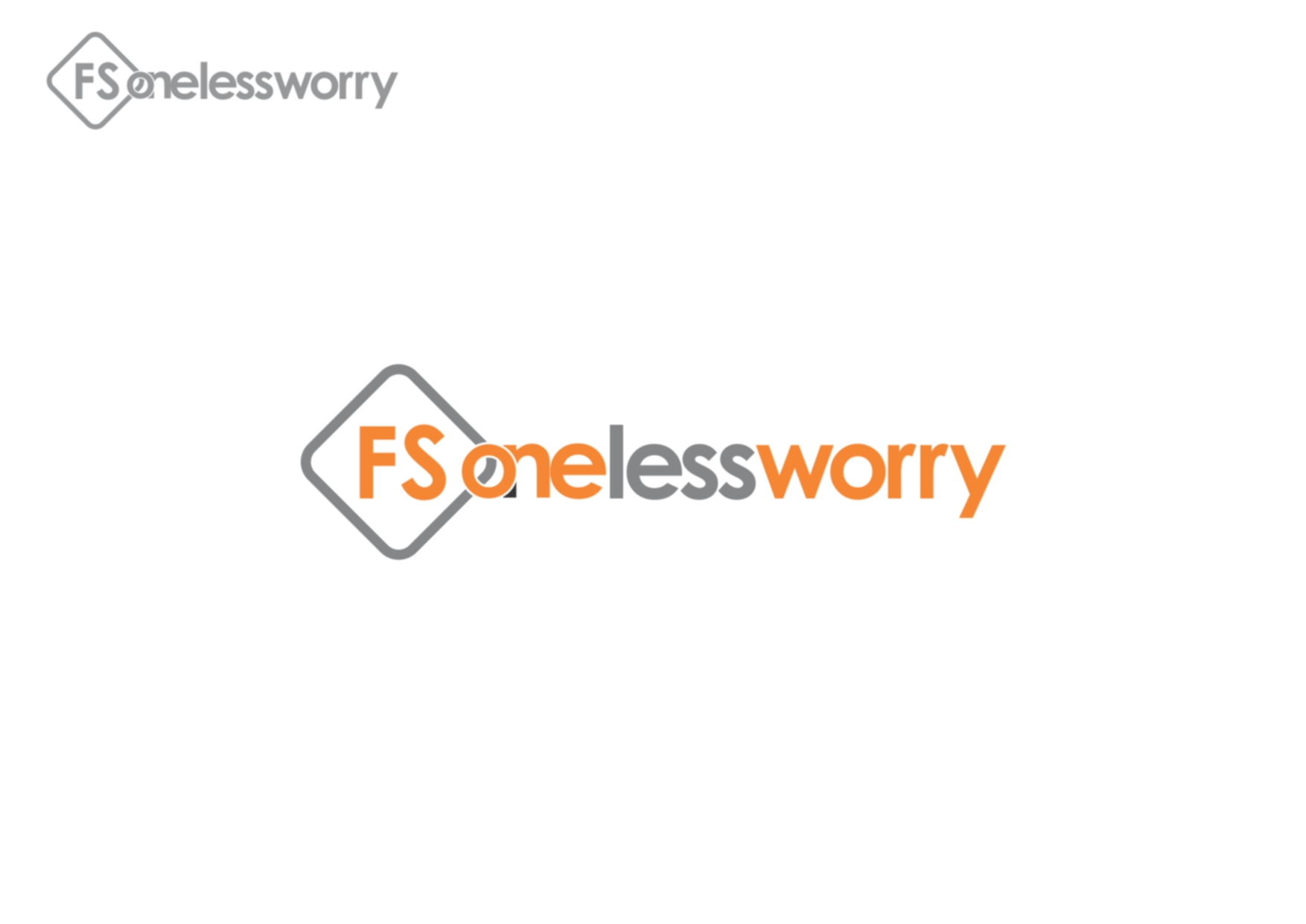 Logo Design by Private User - Entry No. 123 in the Logo Design Contest Creative Logo Design for FS - One Less Worry.