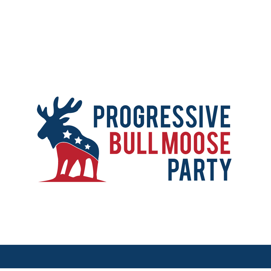 Logo Design by Edward Goodwin - Entry No. 56 in the Logo Design Contest Progressive Bull Moose Party Logo Design.