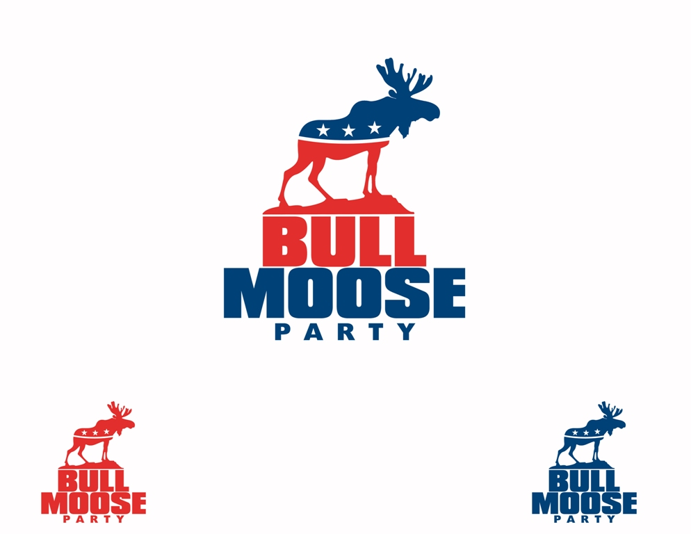 Logo Design by Juan_Kata - Entry No. 59 in the Logo Design Contest Progressive Bull Moose Party Logo Design.