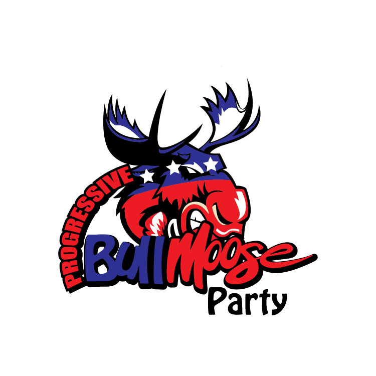 Logo Design by lagalag - Entry No. 62 in the Logo Design Contest Progressive Bull Moose Party Logo Design.