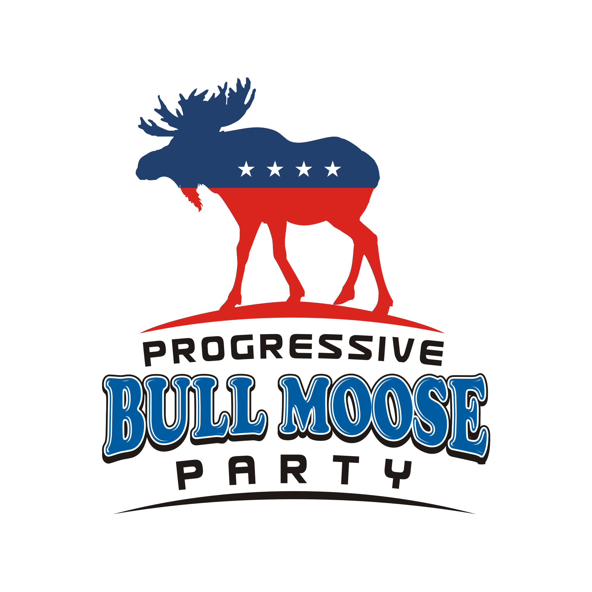 Logo Design by Private User - Entry No. 64 in the Logo Design Contest Progressive Bull Moose Party Logo Design.