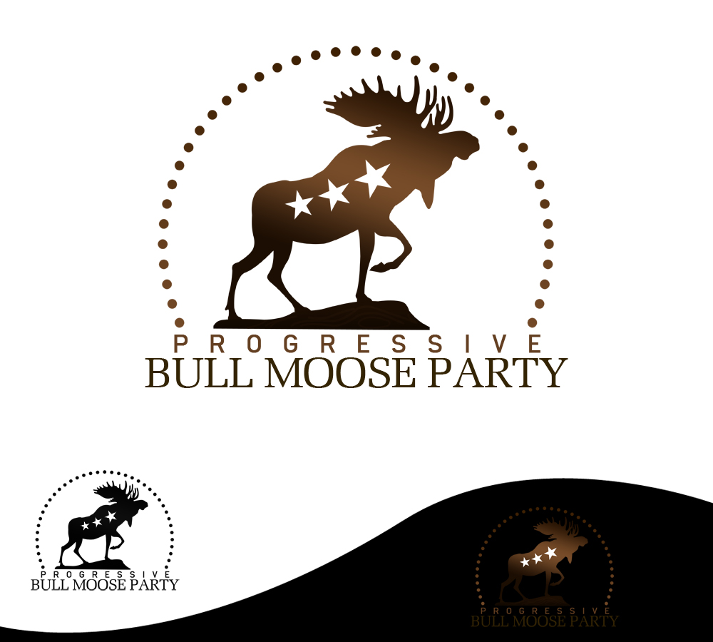 Logo Design by Private User - Entry No. 65 in the Logo Design Contest Progressive Bull Moose Party Logo Design.