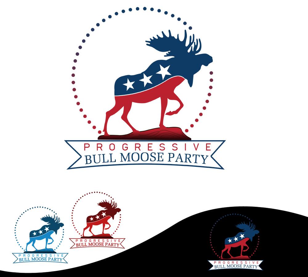 Logo Design by Robert Turla - Entry No. 68 in the Logo Design Contest Progressive Bull Moose Party Logo Design.