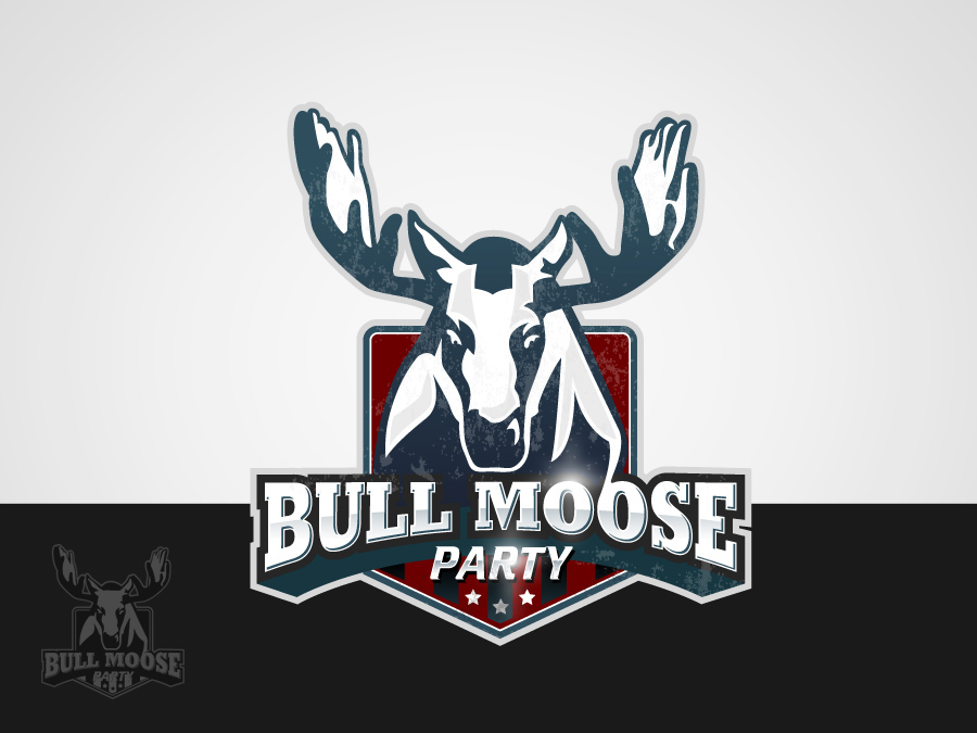 Logo Design by jpbituin - Entry No. 77 in the Logo Design Contest Progressive Bull Moose Party Logo Design.