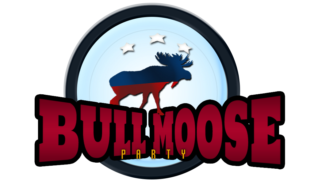 Logo Design by drunkman - Entry No. 78 in the Logo Design Contest Progressive Bull Moose Party Logo Design.