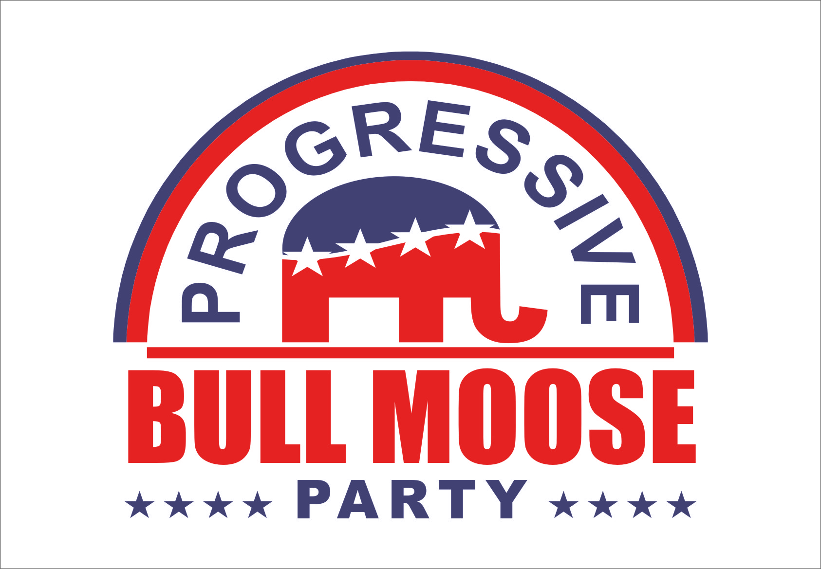Logo Design by RasYa Muhammad Athaya - Entry No. 82 in the Logo Design Contest Progressive Bull Moose Party Logo Design.