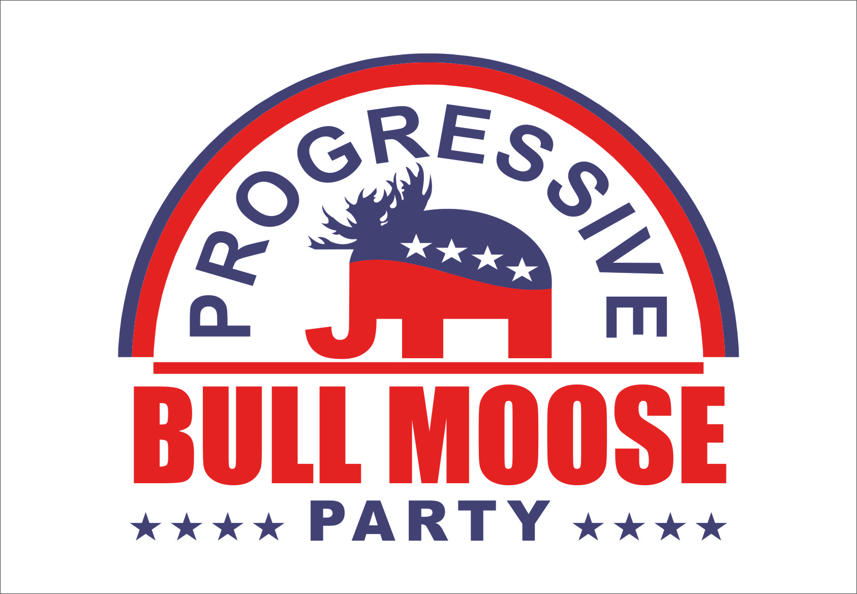 Logo Design by Ngepet_art - Entry No. 83 in the Logo Design Contest Progressive Bull Moose Party Logo Design.