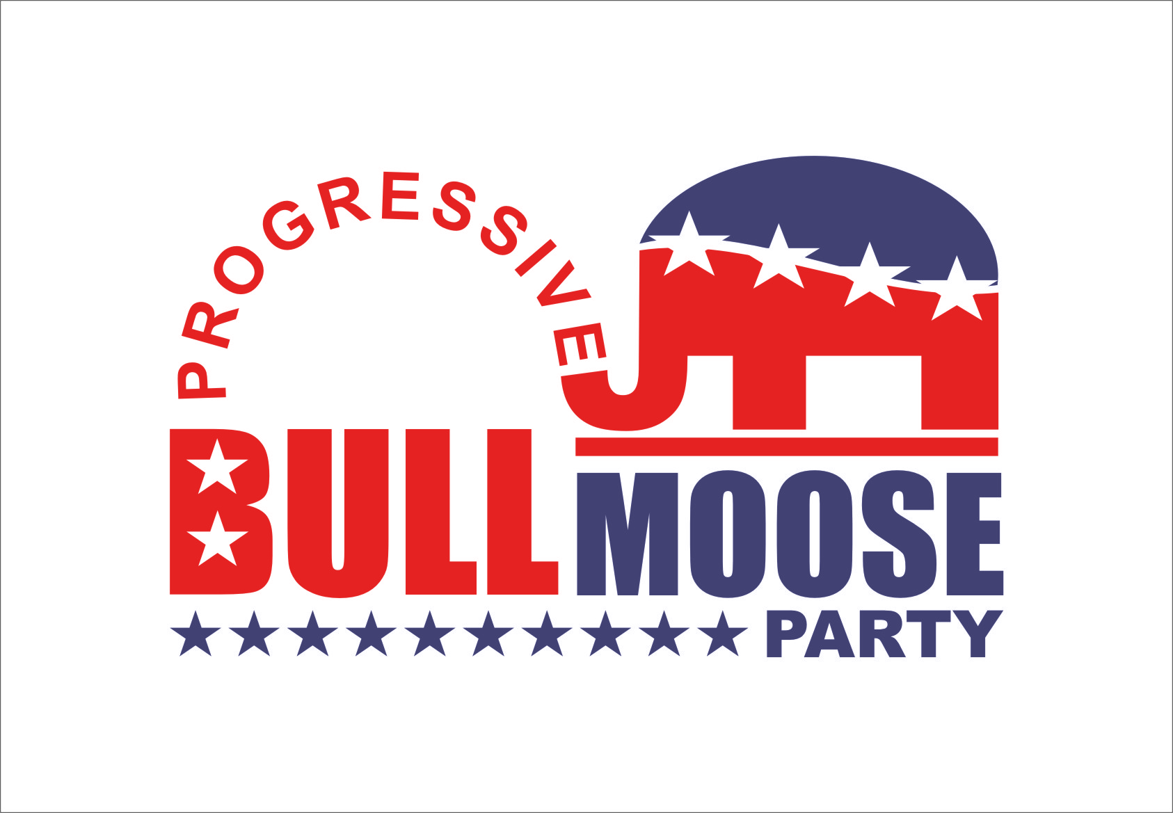 Logo Design by RoSyid Rono-Rene On Java - Entry No. 84 in the Logo Design Contest Progressive Bull Moose Party Logo Design.