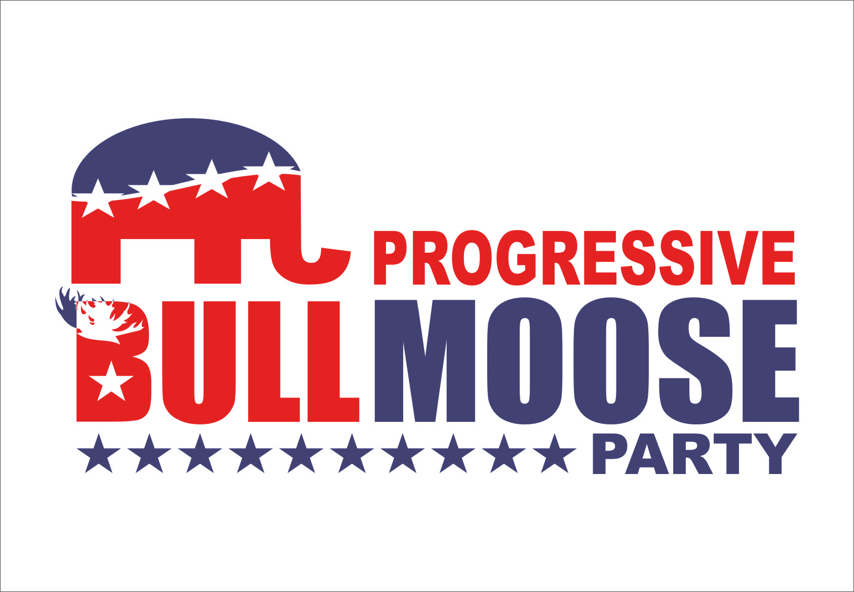Logo Design by RasYa Muhammad Athaya - Entry No. 85 in the Logo Design Contest Progressive Bull Moose Party Logo Design.