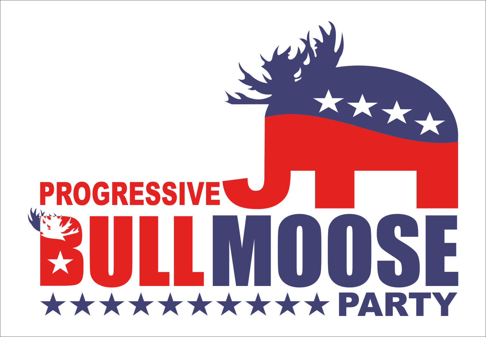 Logo Design by Ngepet_art - Entry No. 86 in the Logo Design Contest Progressive Bull Moose Party Logo Design.