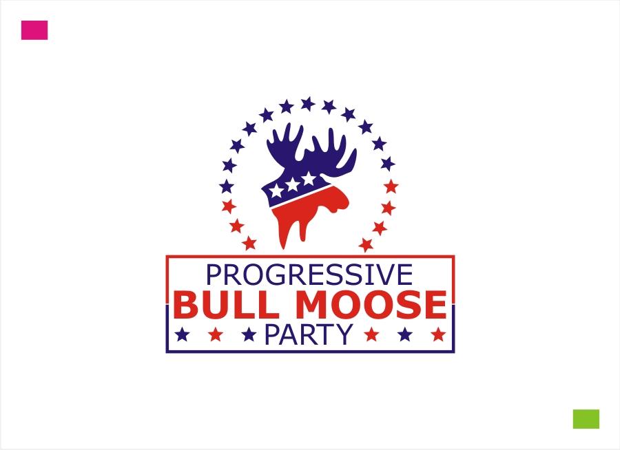 Logo Design by Private User - Entry No. 93 in the Logo Design Contest Progressive Bull Moose Party Logo Design.
