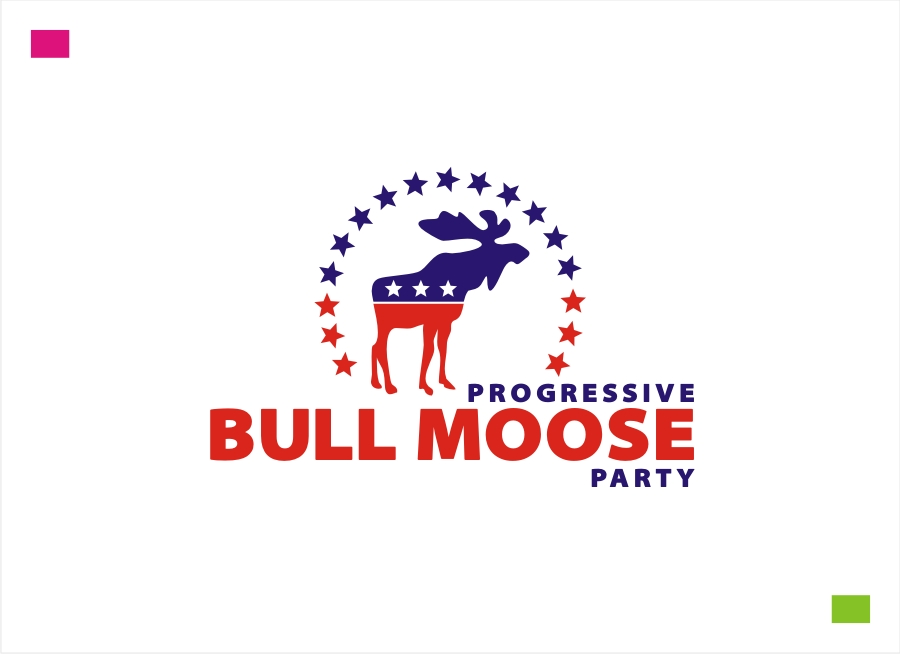 Logo Design by Private User - Entry No. 94 in the Logo Design Contest Progressive Bull Moose Party Logo Design.