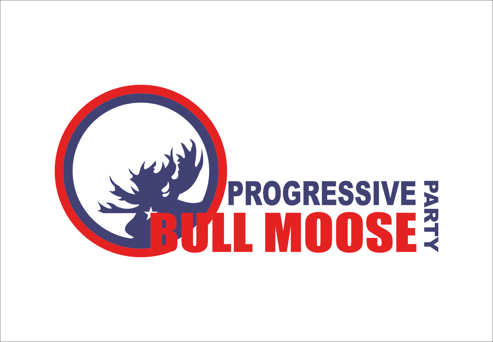 Logo Design by RasYa Muhammad Athaya - Entry No. 96 in the Logo Design Contest Progressive Bull Moose Party Logo Design.