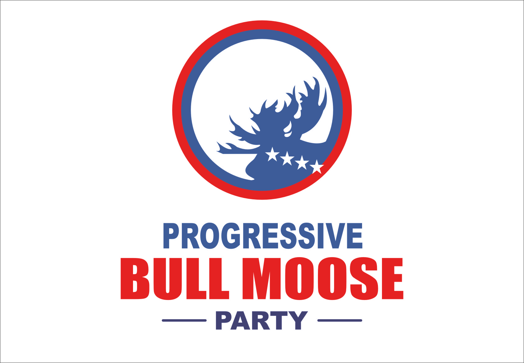 Logo Design by Ngepet_art - Entry No. 97 in the Logo Design Contest Progressive Bull Moose Party Logo Design.