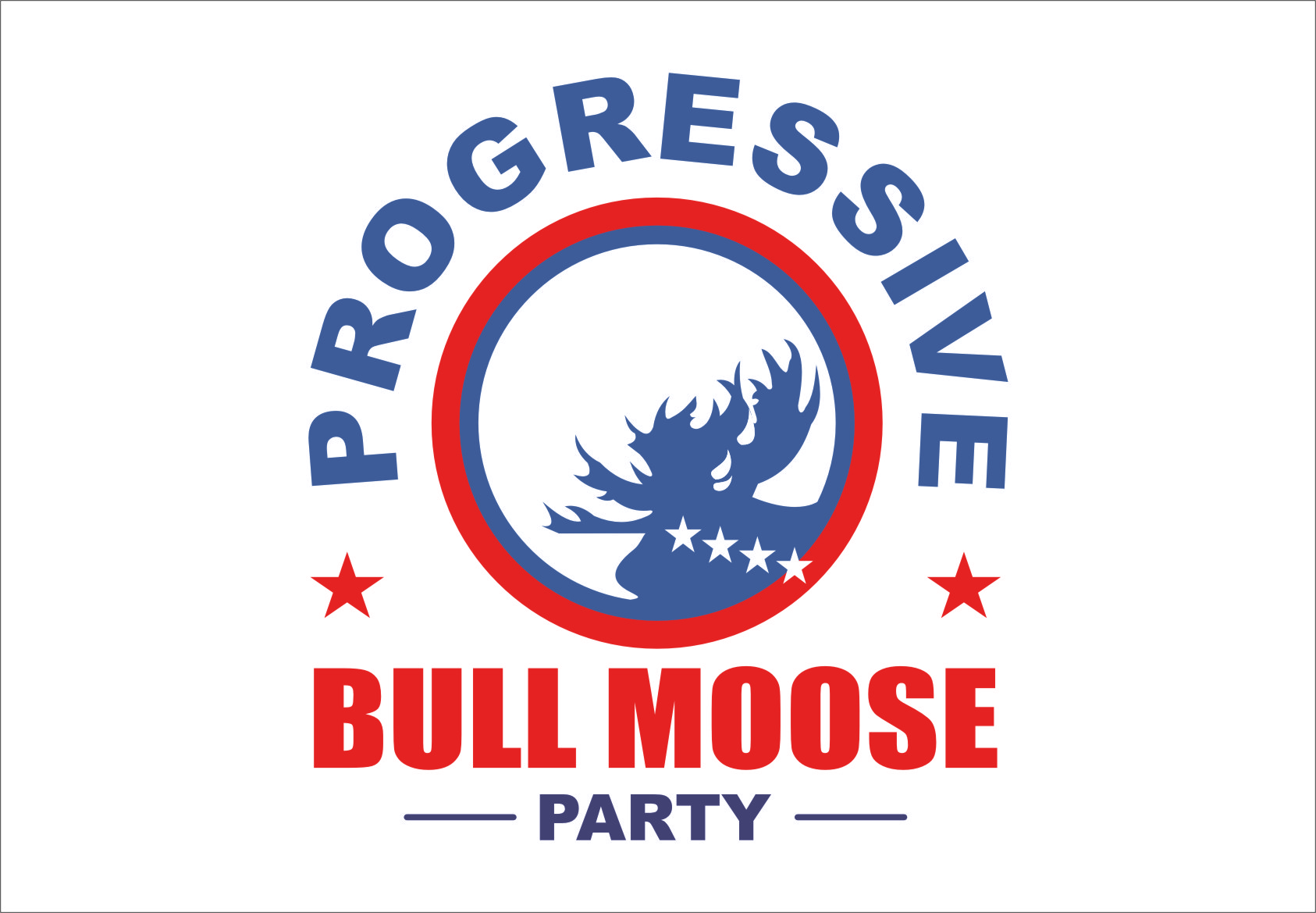 Logo Design by RasYa Muhammad Athaya - Entry No. 98 in the Logo Design Contest Progressive Bull Moose Party Logo Design.