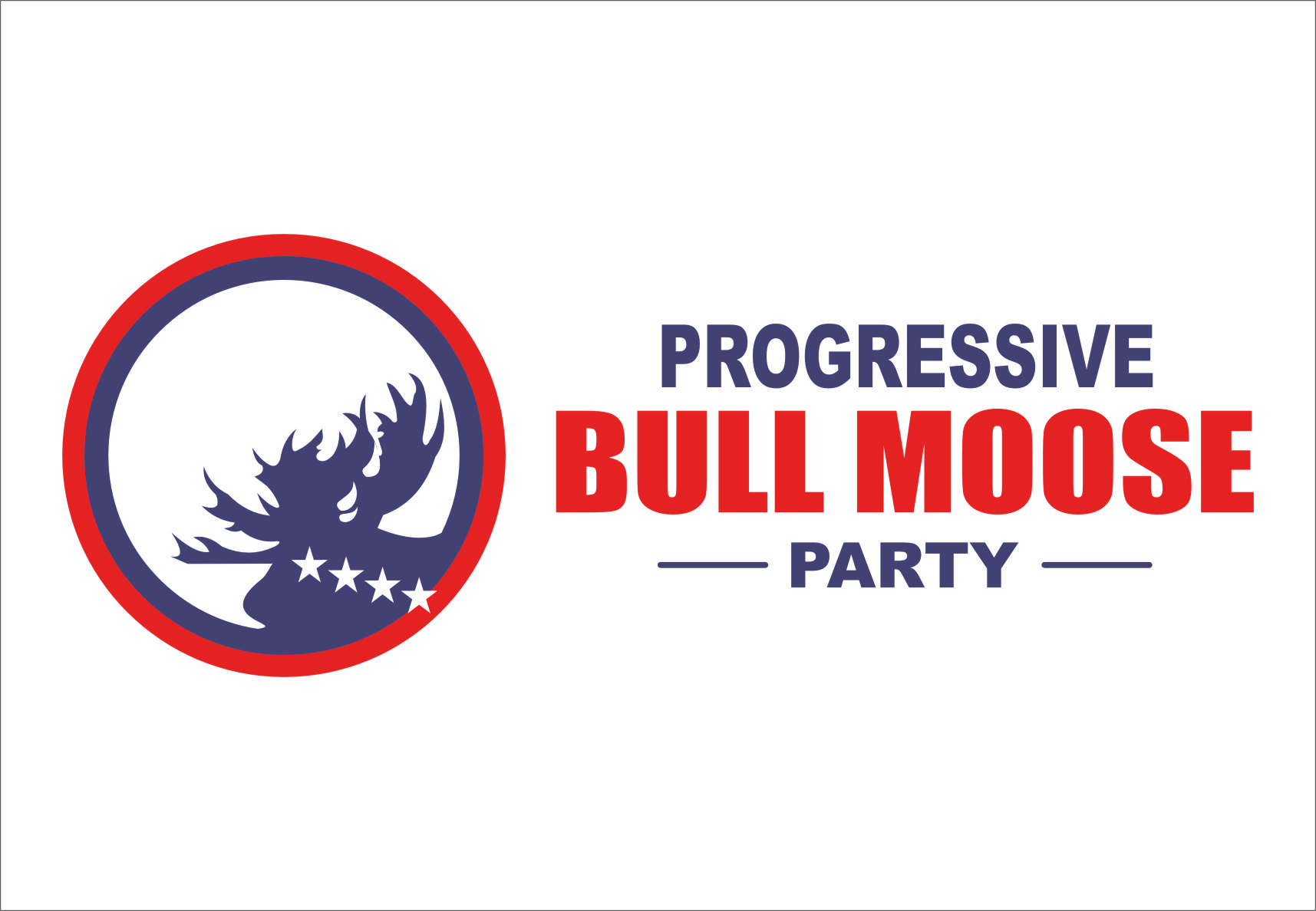 Logo Design by Ngepet_art - Entry No. 99 in the Logo Design Contest Progressive Bull Moose Party Logo Design.