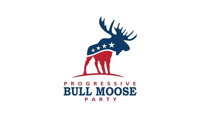 Logo Design by Respati Himawan - Entry No. 104 in the Logo Design Contest Progressive Bull Moose Party Logo Design.