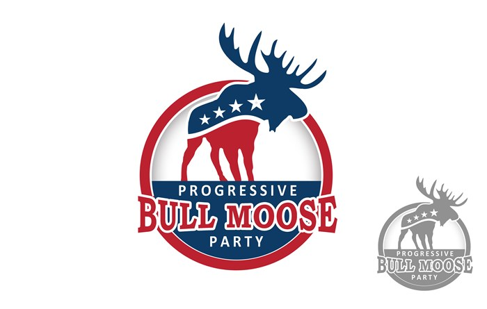 Logo Design by Respati Himawan - Entry No. 105 in the Logo Design Contest Progressive Bull Moose Party Logo Design.