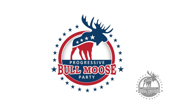 Logo Design by Respati Himawan - Entry No. 106 in the Logo Design Contest Progressive Bull Moose Party Logo Design.