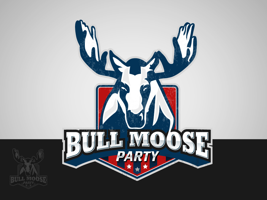 Logo Design by jpbituin - Entry No. 107 in the Logo Design Contest Progressive Bull Moose Party Logo Design.