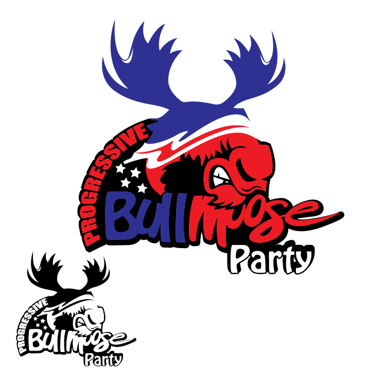 Logo Design by lagalag - Entry No. 108 in the Logo Design Contest Progressive Bull Moose Party Logo Design.