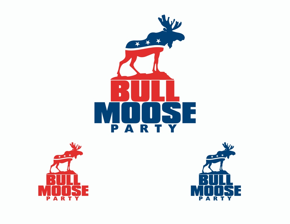Logo Design by Juan_Kata - Entry No. 111 in the Logo Design Contest Progressive Bull Moose Party Logo Design.