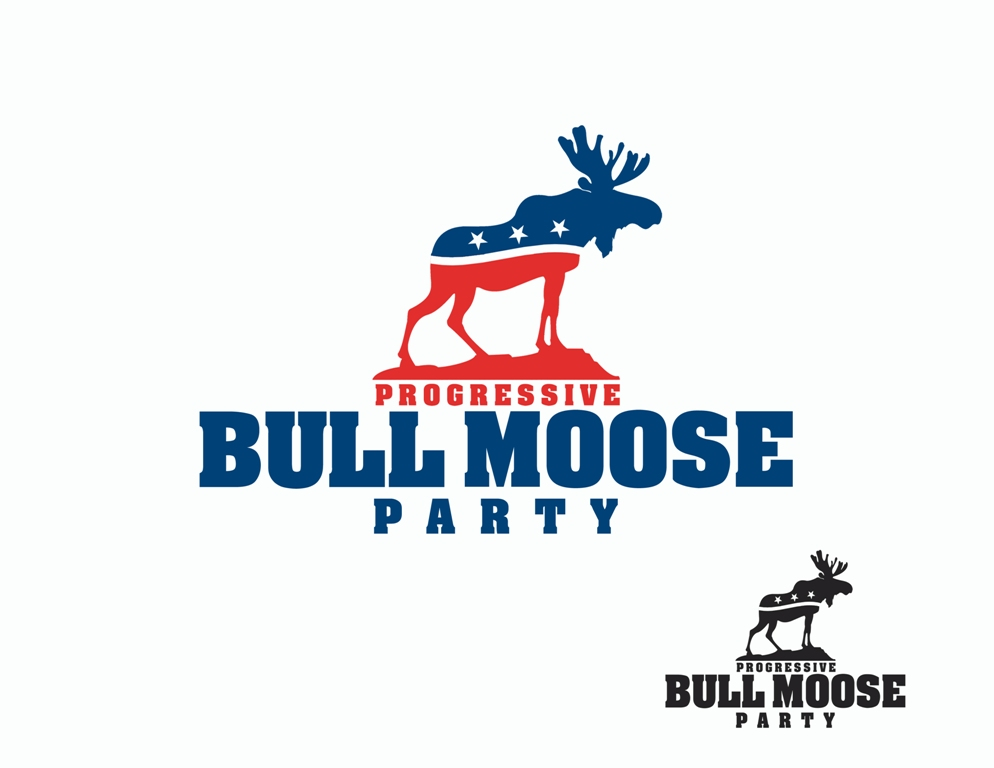 Logo Design by Juan_Kata - Entry No. 115 in the Logo Design Contest Progressive Bull Moose Party Logo Design.