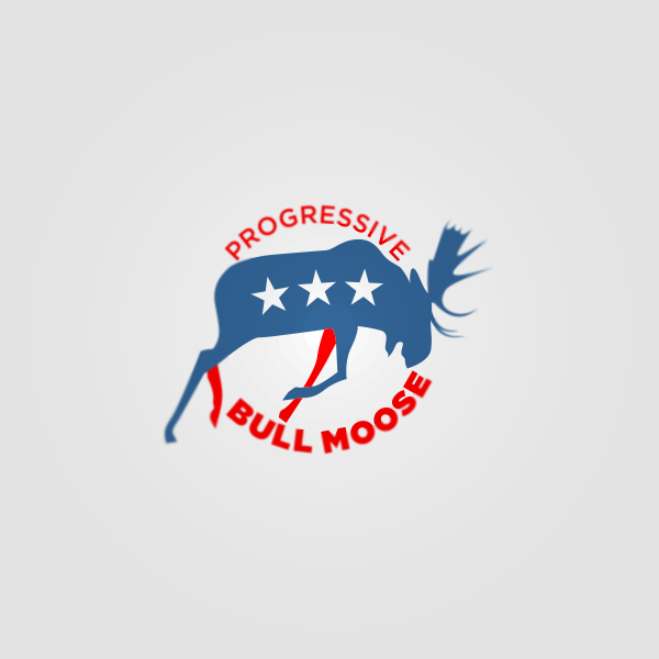 Logo Design by Private User - Entry No. 118 in the Logo Design Contest Progressive Bull Moose Party Logo Design.