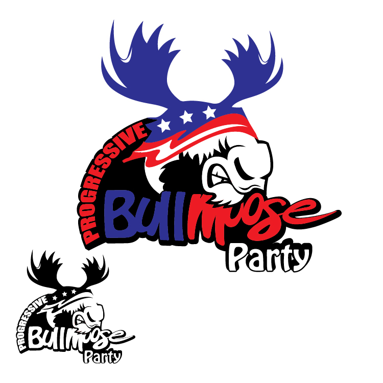 Logo Design by lagalag - Entry No. 119 in the Logo Design Contest Progressive Bull Moose Party Logo Design.