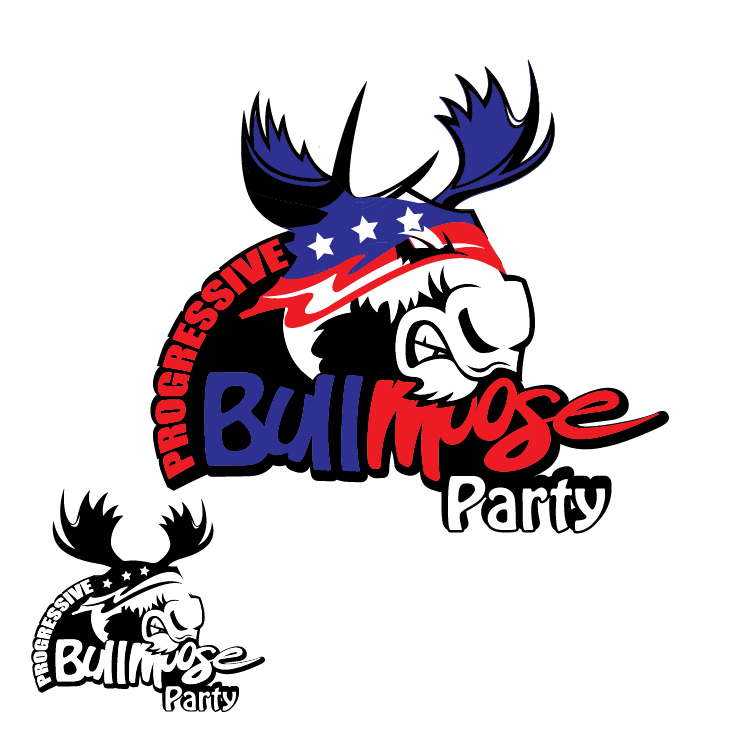 Logo Design by lagalag - Entry No. 122 in the Logo Design Contest Progressive Bull Moose Party Logo Design.