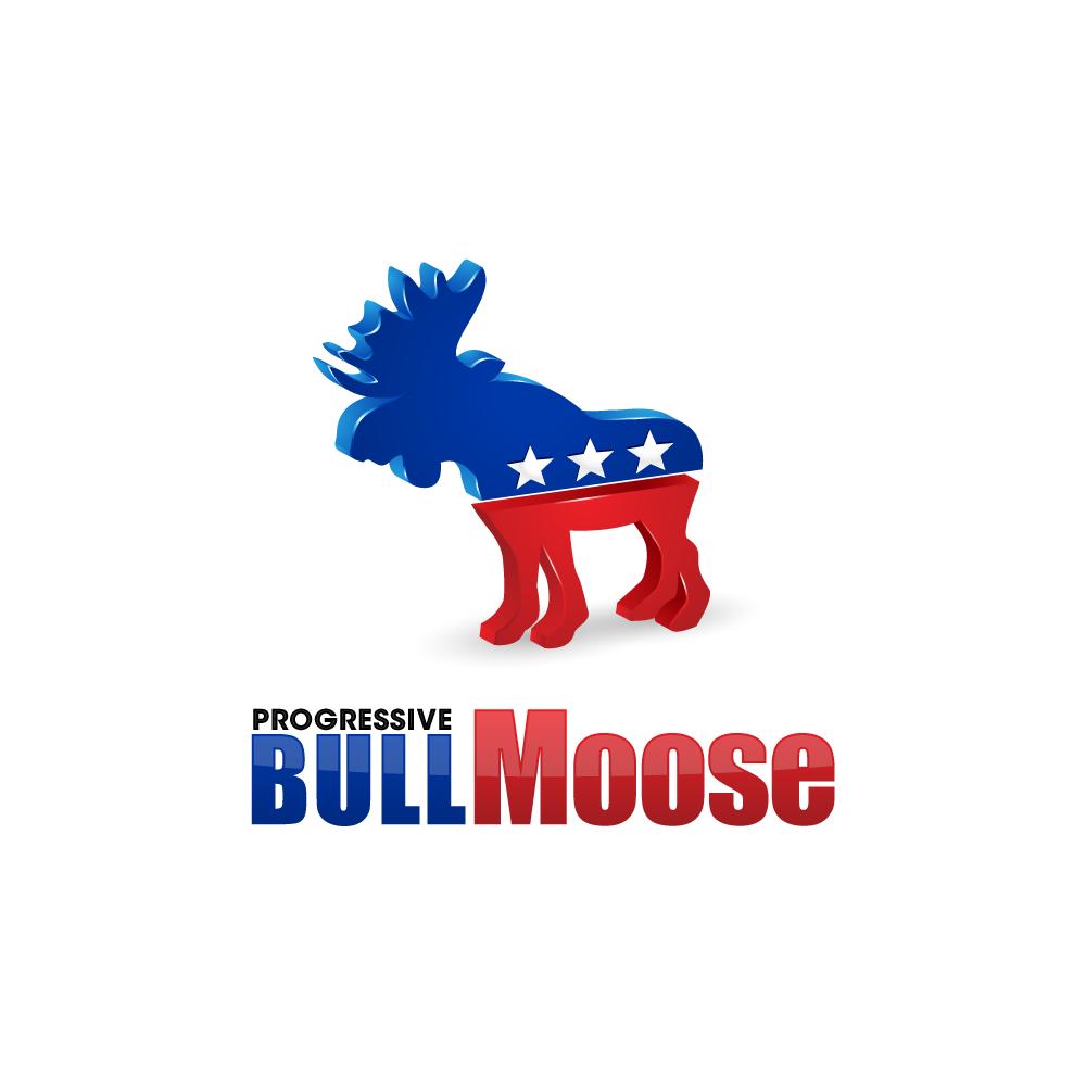 Logo Design by zesthar - Entry No. 124 in the Logo Design Contest Progressive Bull Moose Party Logo Design.