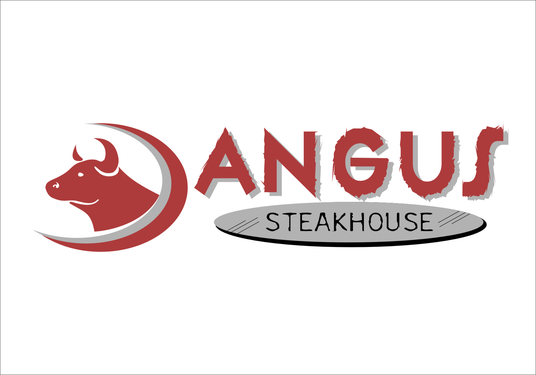 Logo Design by RoSyid Rono-Rene On Java - Entry No. 2 in the Logo Design Contest Imaginative Custom Design for Angus Steakhouse.