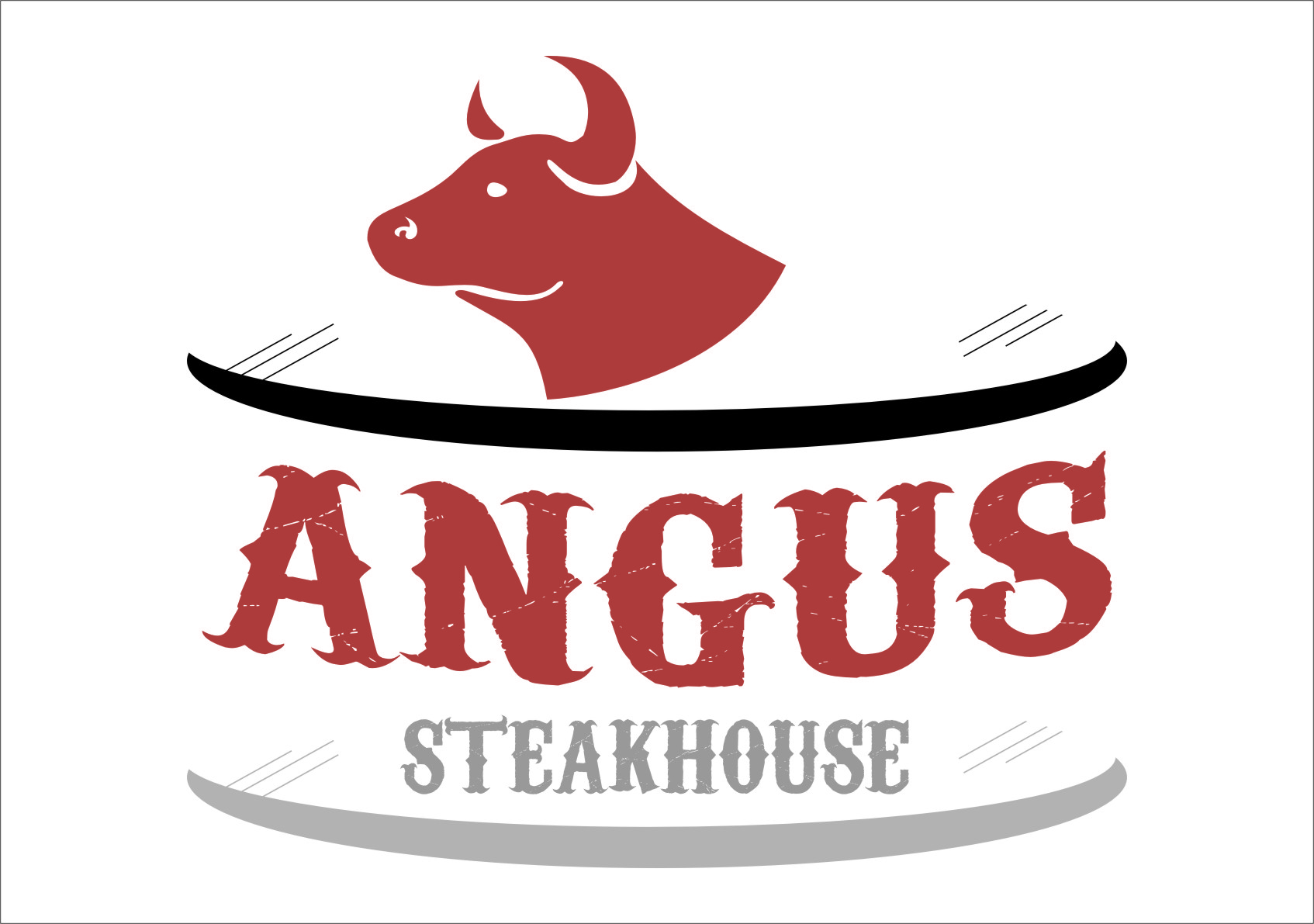 Logo Design by RoSyid Rono-Rene On Java - Entry No. 3 in the Logo Design Contest Imaginative Custom Design for Angus Steakhouse.