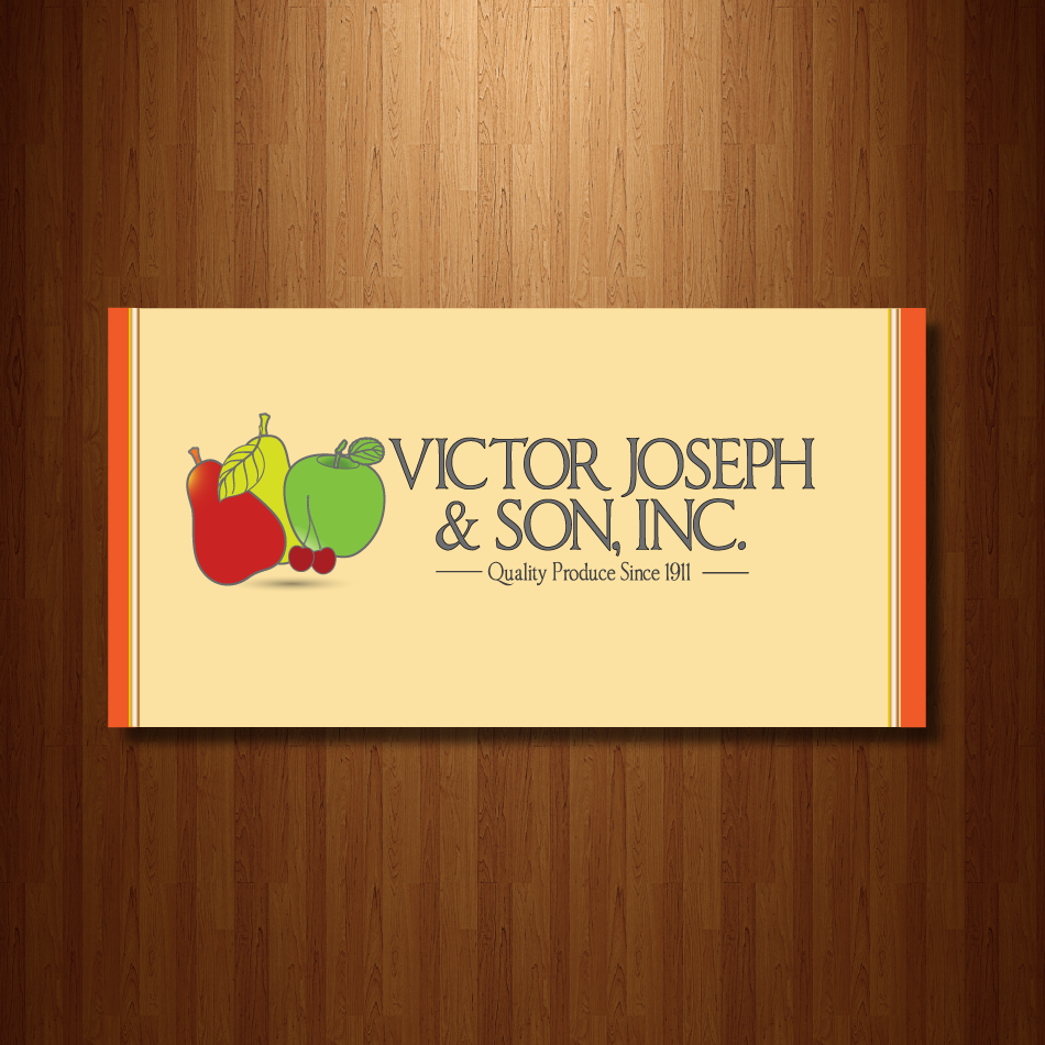 Logo Design by moonflower - Entry No. 210 in the Logo Design Contest Imaginative Logo Design for Victor Joseph & Son, Inc..