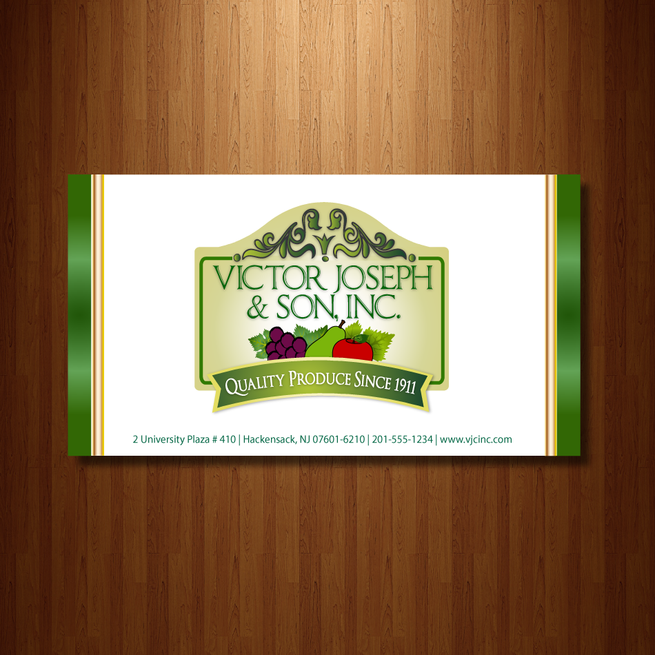 Logo Design by moonflower - Entry No. 230 in the Logo Design Contest Imaginative Logo Design for Victor Joseph & Son, Inc..