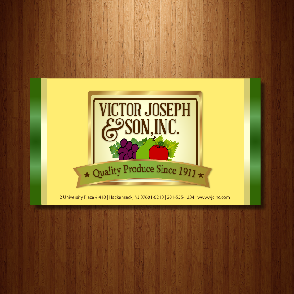 Logo Design by moonflower - Entry No. 234 in the Logo Design Contest Imaginative Logo Design for Victor Joseph & Son, Inc..