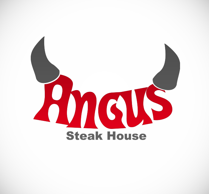 Logo Design by Bobby Yoga P - Entry No. 9 in the Logo Design Contest Imaginative Custom Design for Angus Steakhouse.