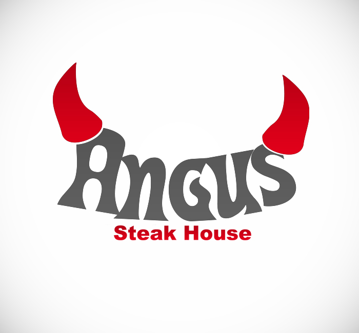 Logo Design by Bobby Yoga P - Entry No. 10 in the Logo Design Contest Imaginative Custom Design for Angus Steakhouse.