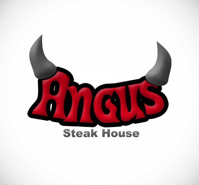 Logo Design by Bobby Yoga P - Entry No. 11 in the Logo Design Contest Imaginative Custom Design for Angus Steakhouse.