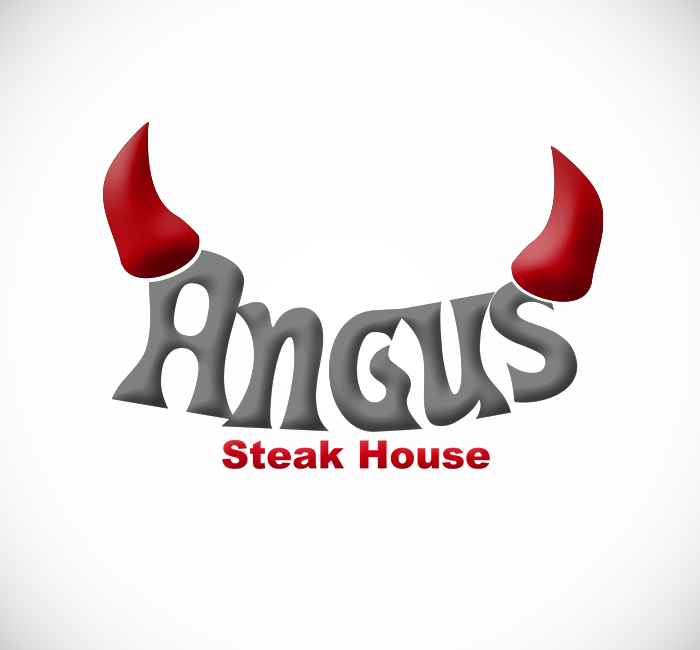 Logo Design by Bobby Yoga P - Entry No. 12 in the Logo Design Contest Imaginative Custom Design for Angus Steakhouse.