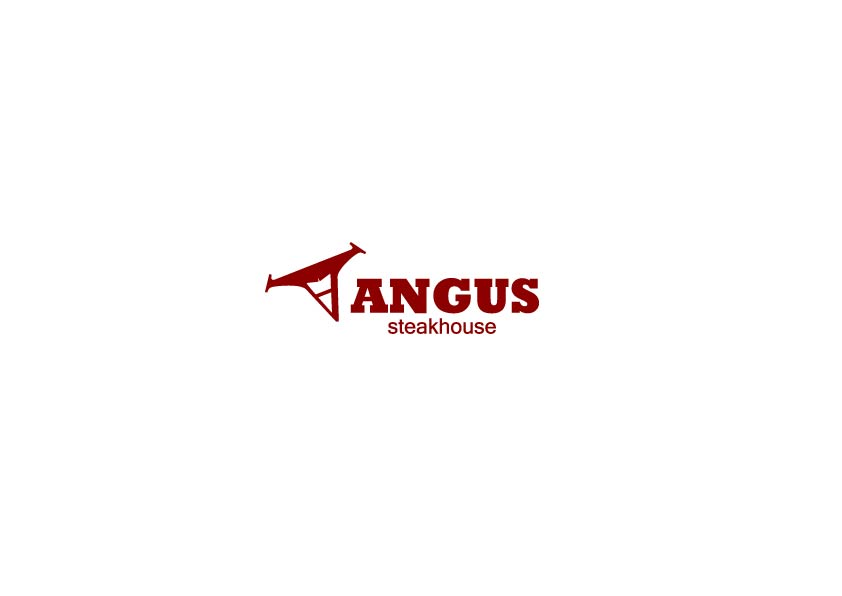 Logo Design by Osi Indra - Entry No. 16 in the Logo Design Contest Imaginative Custom Design for Angus Steakhouse.