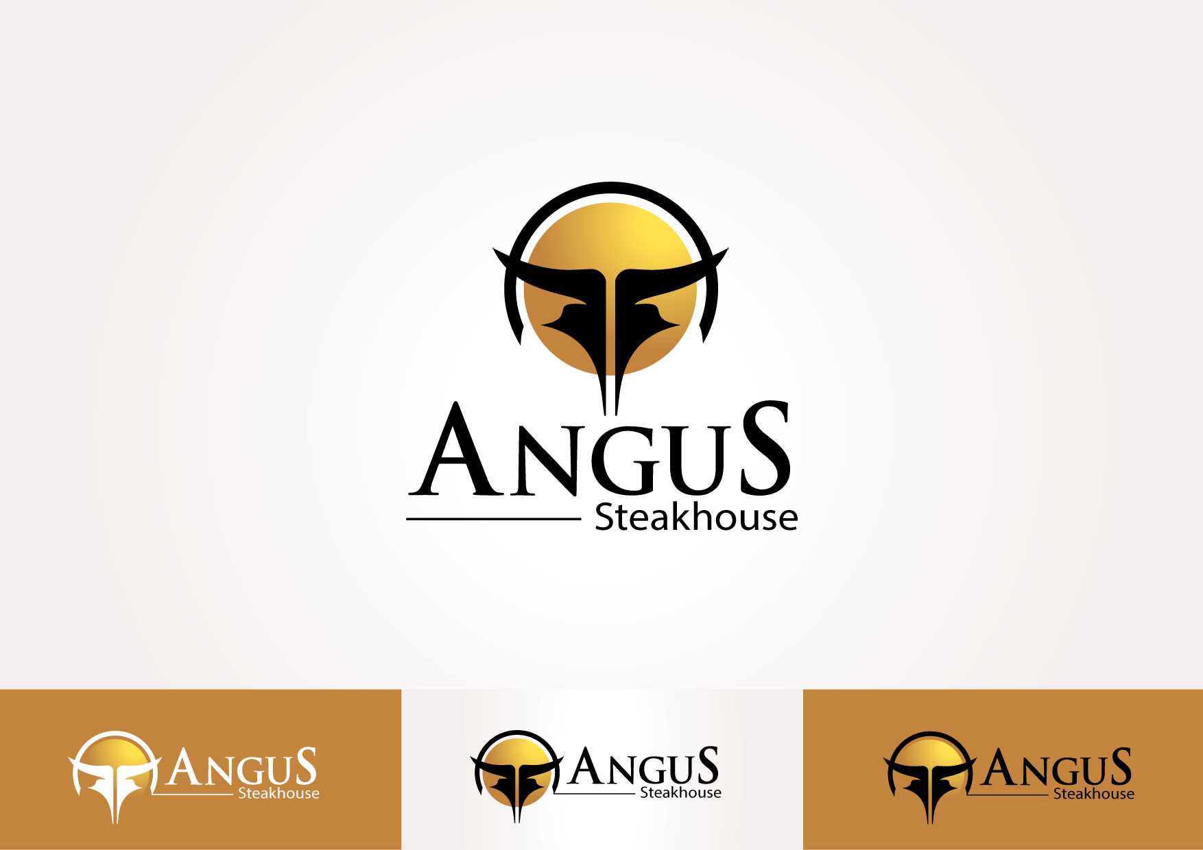 Logo Design by lovag - Entry No. 17 in the Logo Design Contest Imaginative Custom Design for Angus Steakhouse.